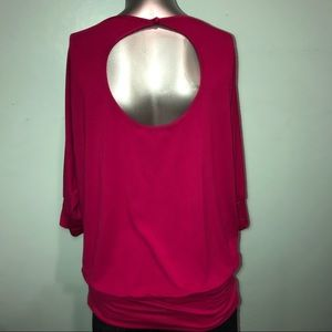 Arden B Tops - Wide neck/ off shoulder banded keyhole back top